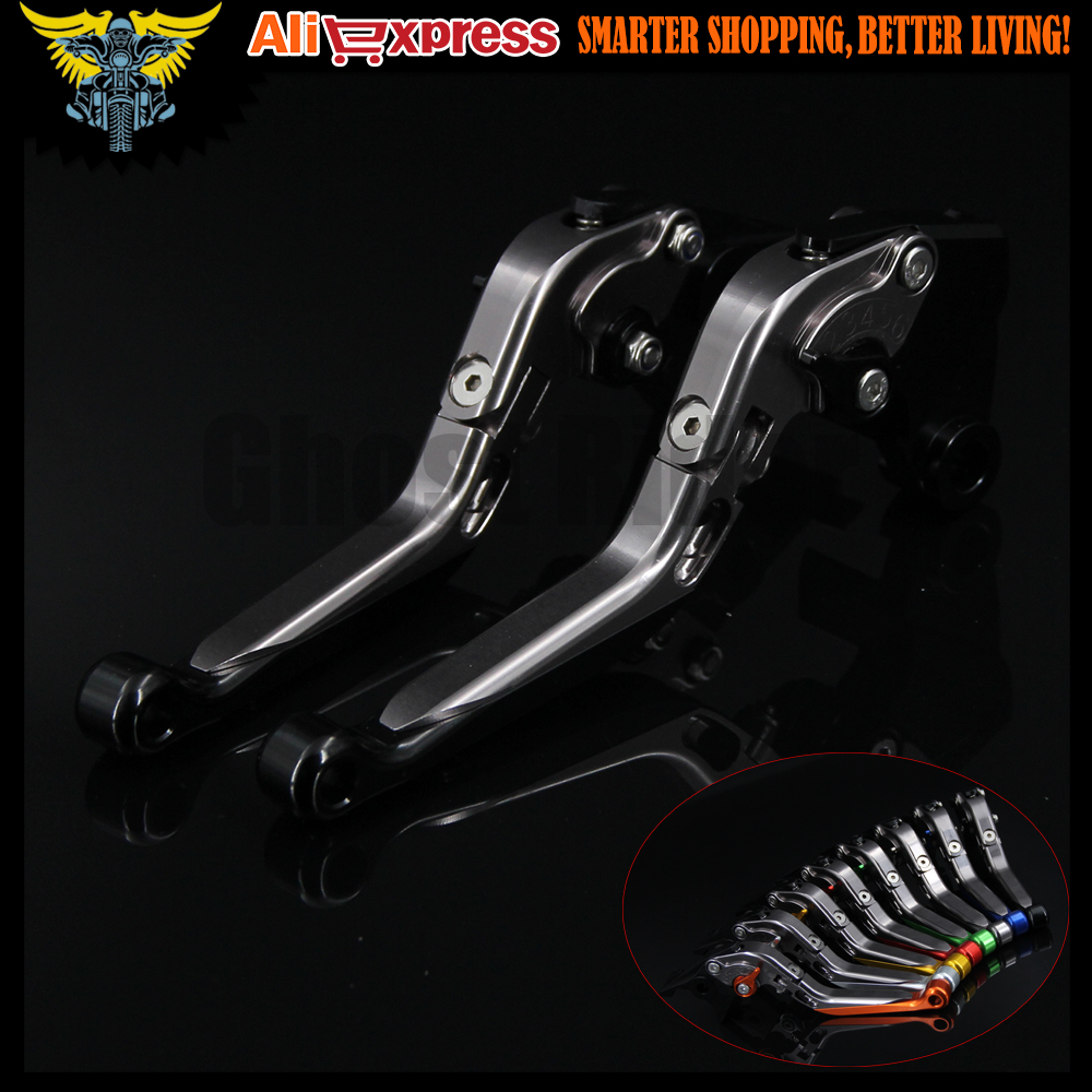 ФОТО Black+titanium CNC Adjustable Folding Motorcycle Brake Clutch Levers For BMW F800S 2006 2007 2008 2009 2010 2011 2012 2013 2014