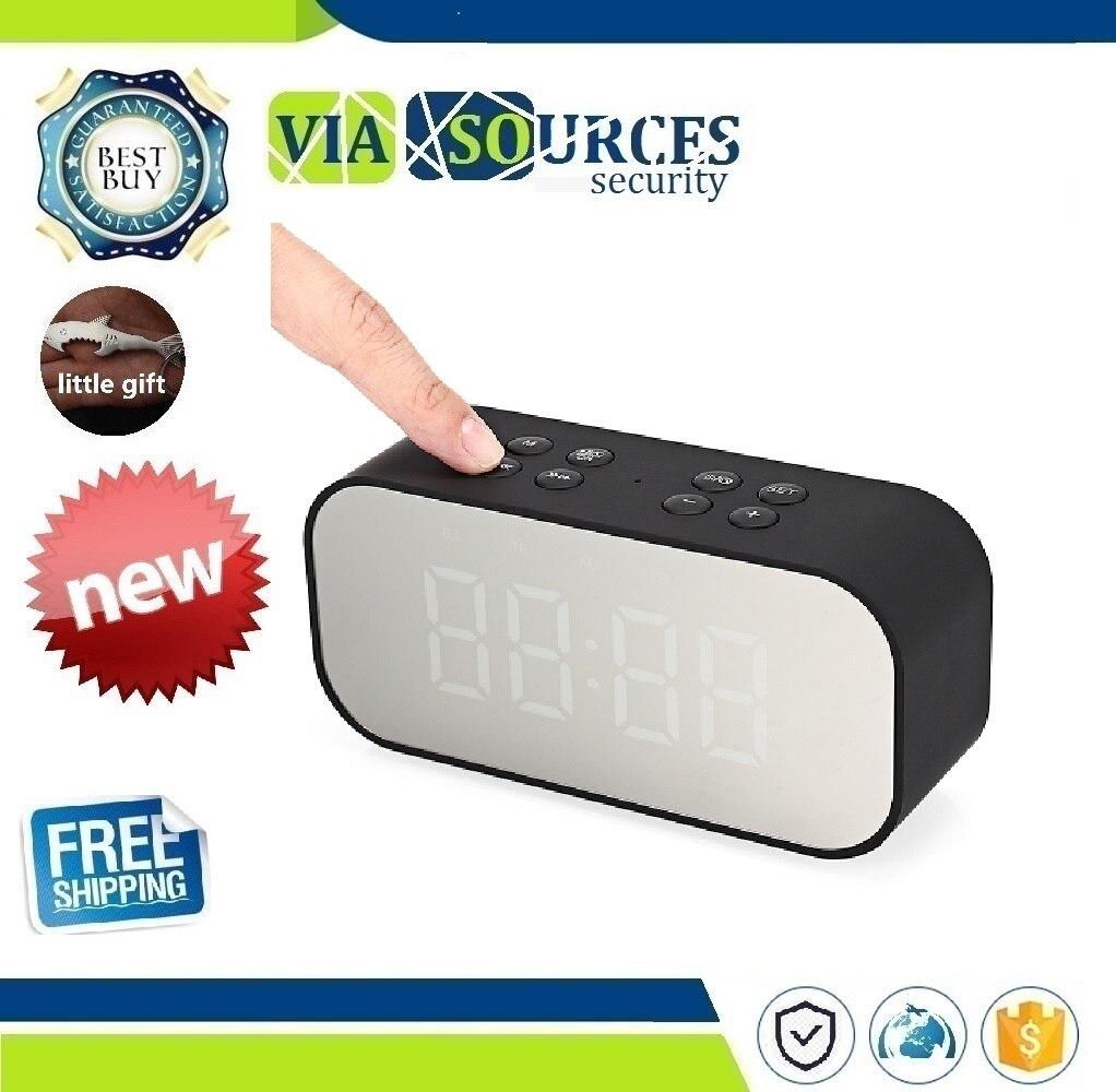 NEW BT501 Portable Wireless Bluetooth Speaker Column Subwoofer Music Sound Box LED Wireless Speaker With Alarm Clock Mirror