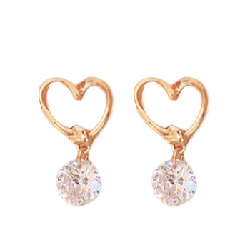 fce52dceb84a9 Fancy Jewelry Rhinestones Inlaid Zircon Woman Earring Color Valentine Day  Gift EAR-0748