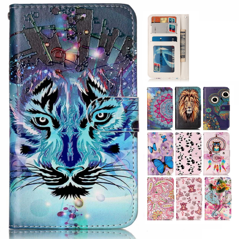 3D Leather Case for Apple iPhone 7 Plus Flip Case Wallet Phone Cases for iPhone7 Plus iPhone7Plus Cover