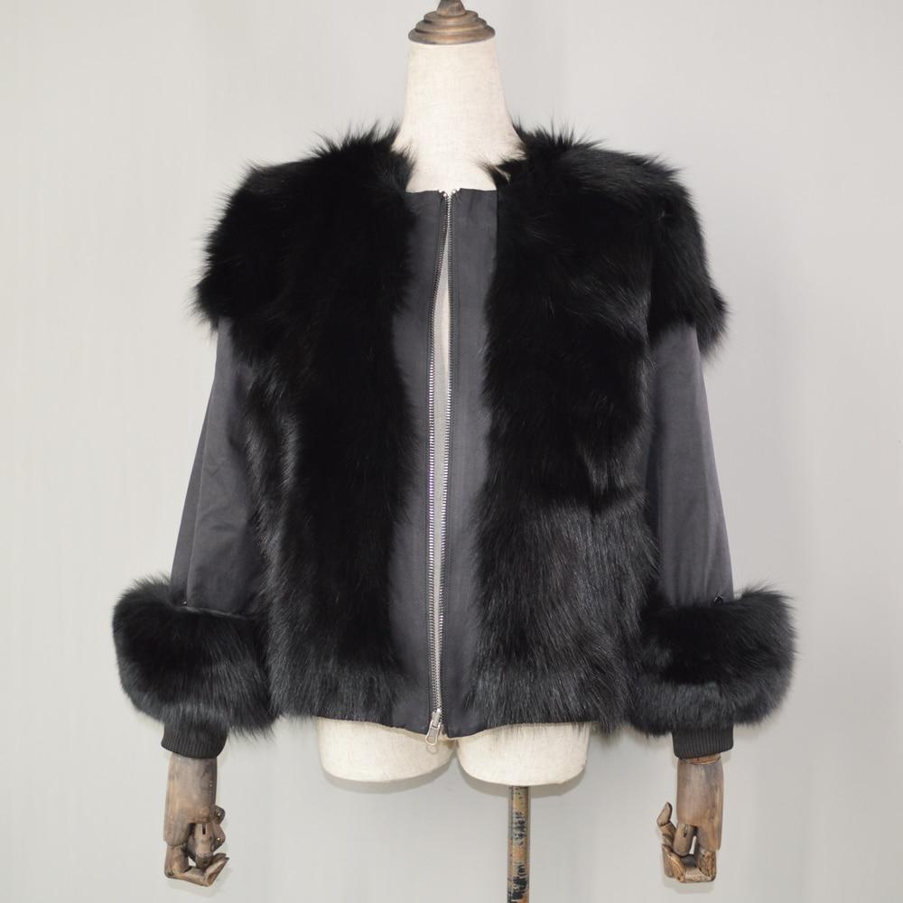 Style Veste face Réel De Hiver Black Double Nouveau Lady Naturel 100 Manteau Printemps Fourrure Renard Femmes Court Pardessus 4OHnwqd