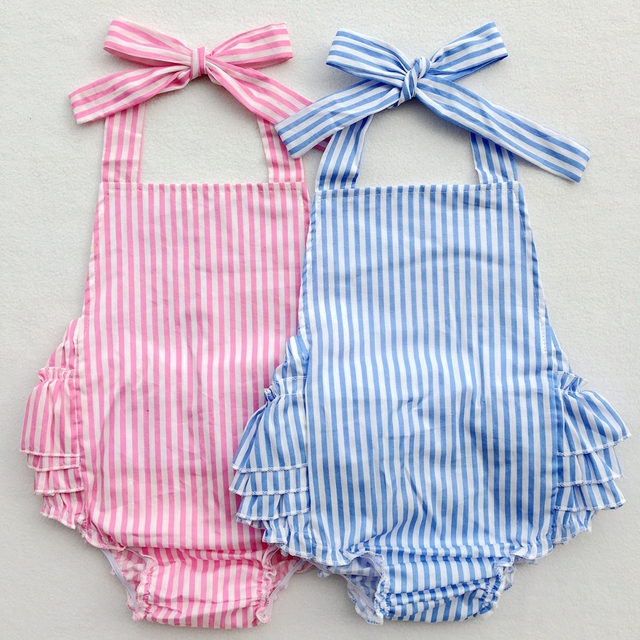 7cb84a751 New Design Rompers Newborn Baby Cotton Ruffle Romper Girls Summer Style  Clothing Photo Props With Headband