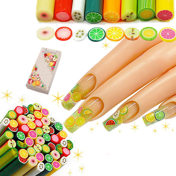 √25 Nail Art Fimo Fruit ᐂ Decoration Decoration Slice Rod ...