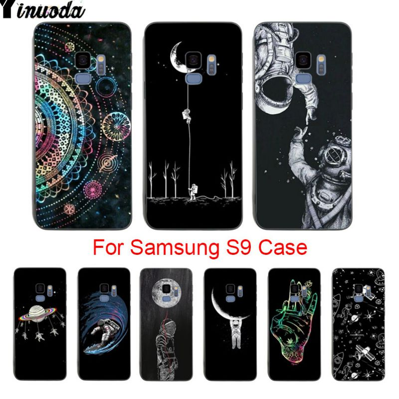 Adroit Yinuoda Space Moon Hot Sale Fashion Luxury Cover Phone Case For Samsung Galaxy S9 Plus S7 Edge S6 Edge Plus S5 S8 Plus Case Phone Bags & Cases Half-wrapped Case