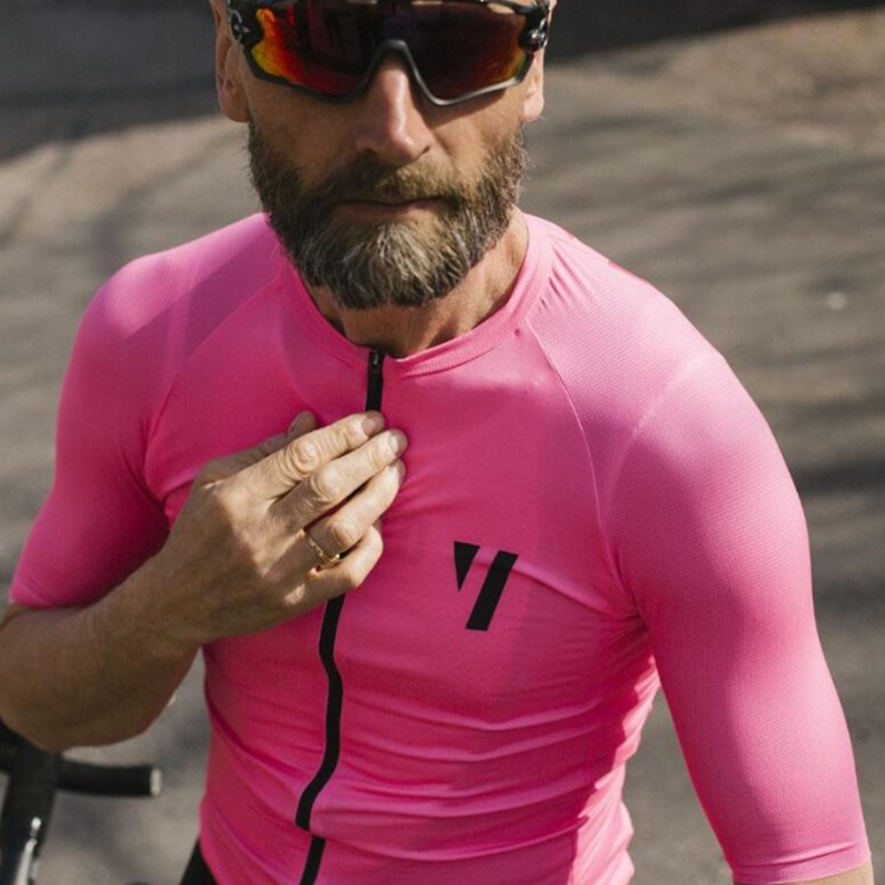 Spring Summer Quick Dry pink bicycle clothing tops for men 2019 Pro team Void Red short sleeve Cycling Jersey maglia ciclismoSpring Summer Quick Dry pink bicycle clothing tops for men 2019 Pro team Void Red short sleeve Cycling Jersey maglia ciclismo