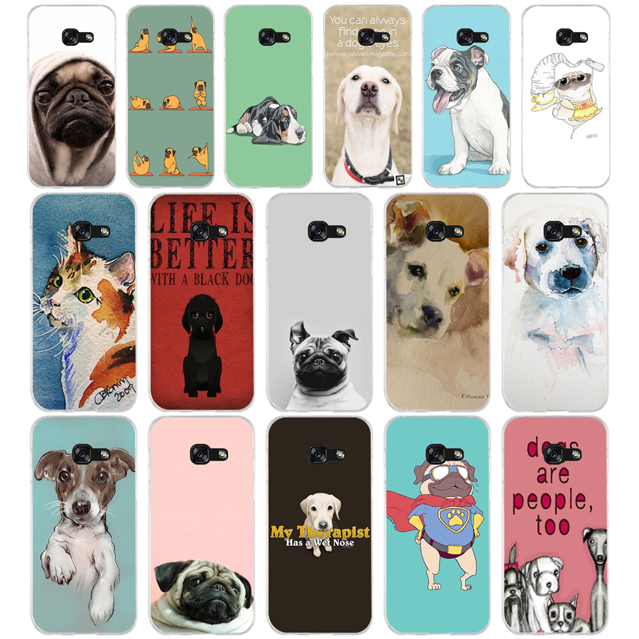 184A Pets <font><b>Dogs</b></font> Printing Soft Silicone Tpu Cover <font><b>phone</b></font> <font><b>Case</b></font> for <font><b>Samsung</b></font> <font><b>galaxy</b></font> <font><b>a3</b></font> a5 2016 <font><b>2017</b></font> a6 A8 2018 image