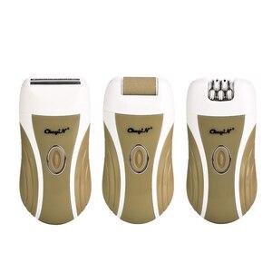 Image 5 - Épilateur Rechargeable 3 en 1 sans fil, pour femmes, rasoir, rasoir, tondeuse, élimine les callosités du talon, pieds lisses, tête de meulage
