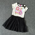 retail EVER AFTER HIGH baby girls dress monster girl dresses for summer with blingbling black sequins lace soft yarn clothes