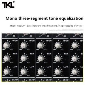 Image 4 - TKL SS1200 USB profesyonel ses mikseri 12 kanal ses karıştırma konsolları Bluetooth 16 yankı ekolayzır