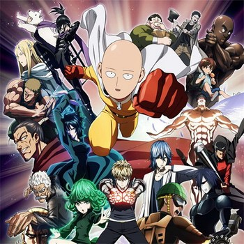 One-Punch Man Anime Characters 45*45CM Square Pillow Case PillowCases #40432 1