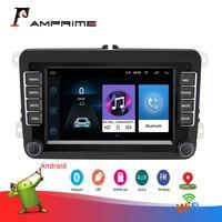 AMPrime 7 Android Car Multimedia player 2 din WIFI GPS Navigation Autoradio For Skoda VW Passat B6 Polo Golf 4 5 Touran Seat FM
