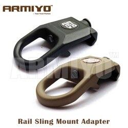 Armiyo Airsoft soporte giratorio para cabestrillo adaptador de montaje de perno táctico de carril 20mm accesorios de bolsas de caza