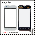 "High Quality 4.0"" For LG Optimus P970 Touch Screen Digitizer Sensor Outer Glass Lens Panel Black White+Tracking Code"