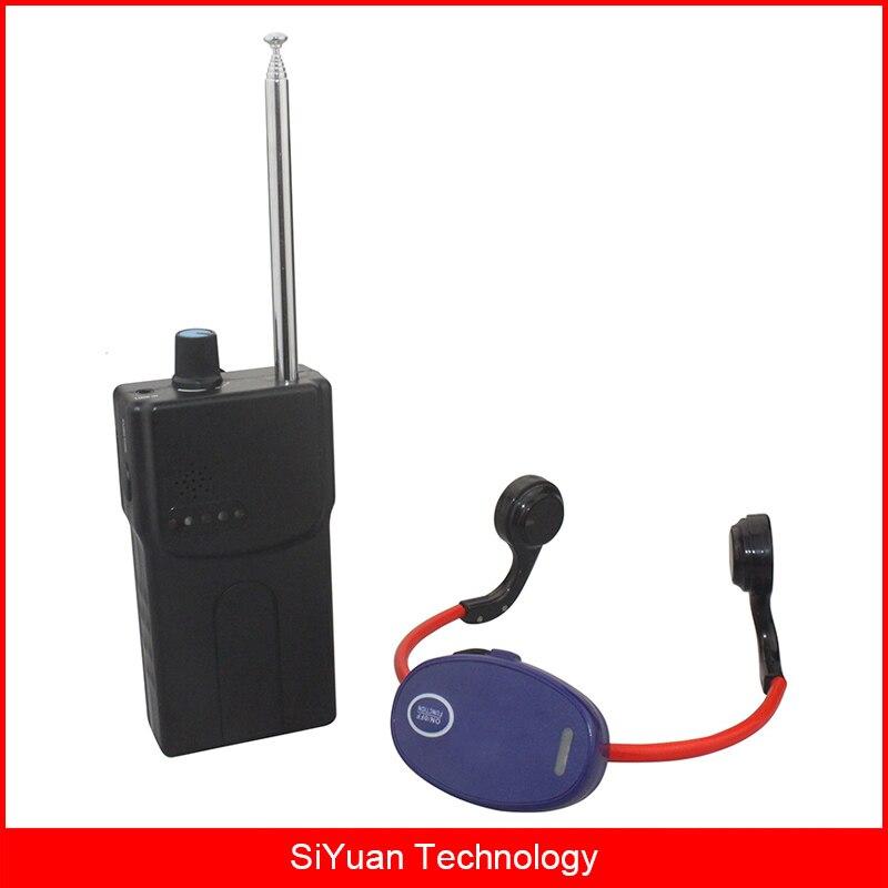 Conduzione ossea Nuoto Dispositivo di Addestramento 1 Walkie Talkie + 5 Impermeabile Cuffia Ricevitori + 1 Microfono per i Nuotatori e Allenatore