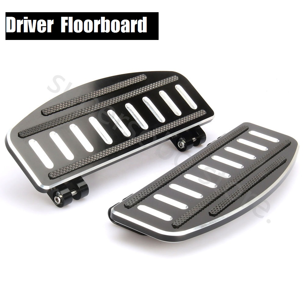 CNC Driver Footboard Insert Kit For Harley Touring 86-18 Floorboards Softail 86-18
