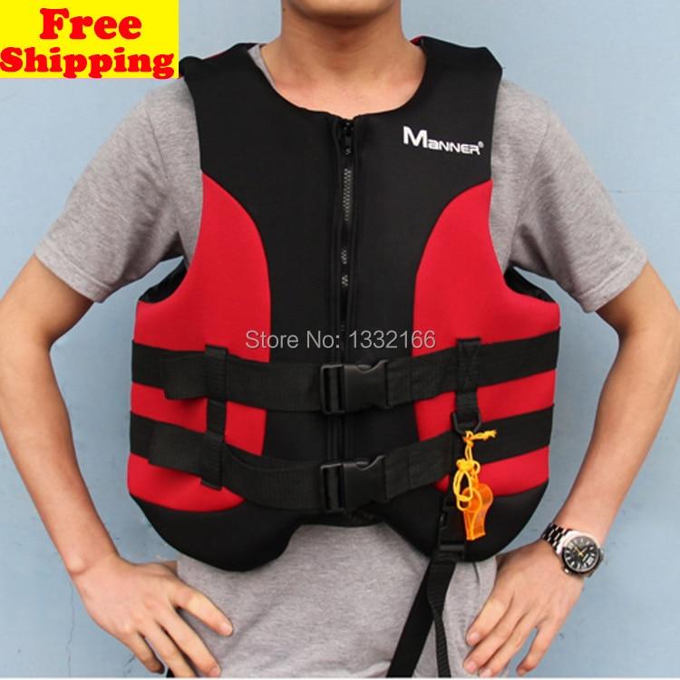 Adult Life Jacket Vest Child Neoprene font b swimming b font clothes Foam Boating Water Fishing