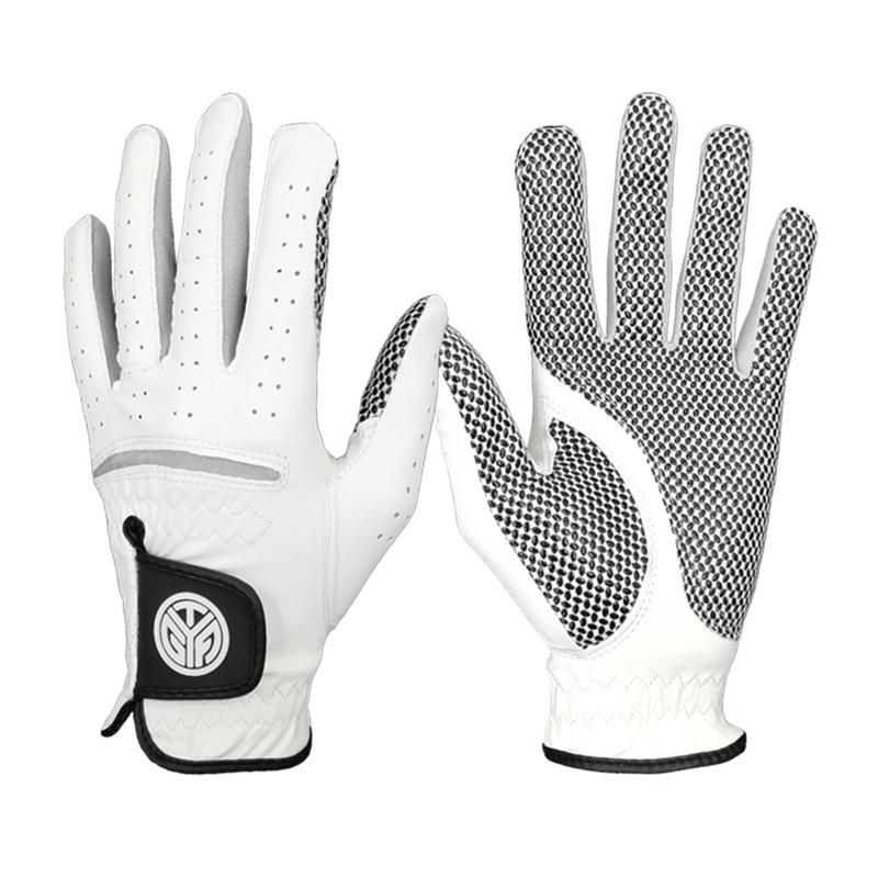 Golf-Gloves Hand Left Sheepskin Soft Right Men with Anti-Slip-Granules 1pcs Breathable title=