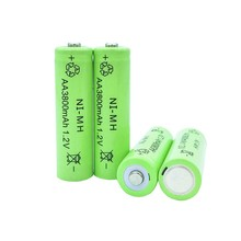 TBUOTZO 4/6 pcs Ni-MH 1.2V AA Rechargeable 3800mAh 3A Neutral Battery battery  for led light toy mp3