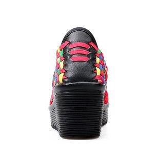 Image 5 - STQ 2020 Summer Women Platform Sandals Shoes Women Woven Flat Shoes Flip Flops High Heel Plastic Shoes Ladies Slip On Shoes 559