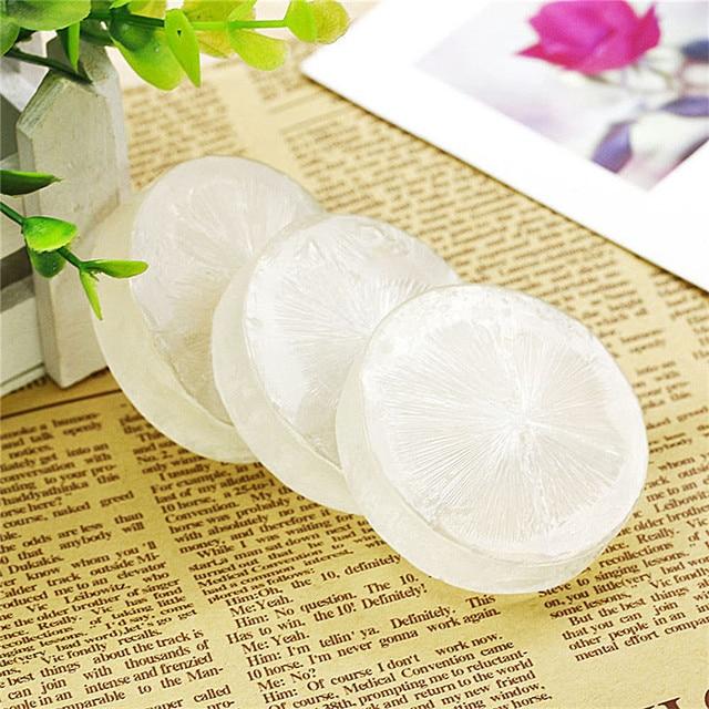 1PC Handmade Natural Soap Skin Moisturizing Crystal Soap Repair Whitening Herbal Soap 1