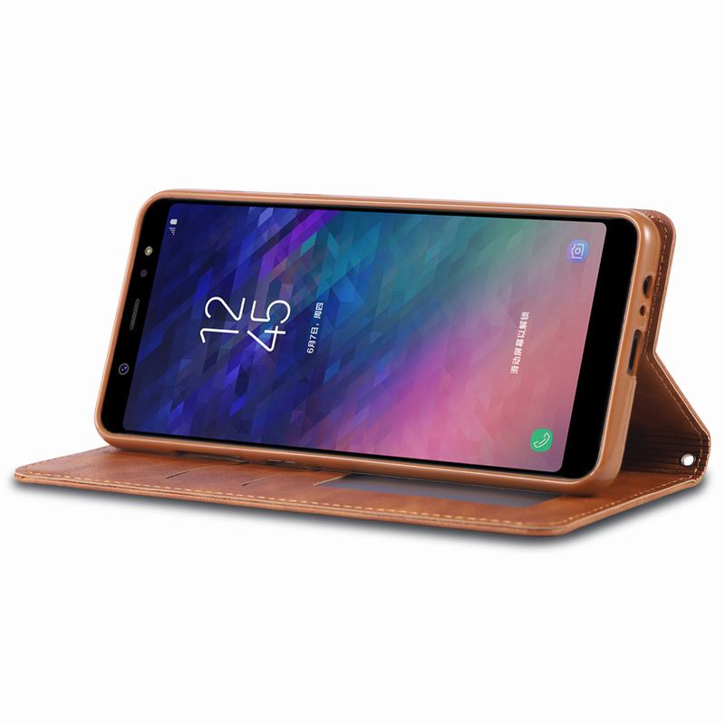 Case For Samsung Galaxy A6 2018 Plus A6S Case Cover Luxury Vintage Flip Magnetic Wallet Case For SAMSUNG Galaxy A6 S G6200 Case in Flip Cases from Cellphones Telecommunications