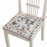 Бесплатная доставка, хлопок, лен, с принтом, уплотненная губчатая подушка, подушка для автомобильного сиденья, подушка для обеденного стула,...