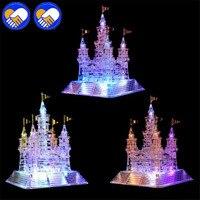 New 3D Puzzle Effie Tower Crystal Puzzle Building Light Castle Model DIY Jigsaw Castle Puzzles Educational