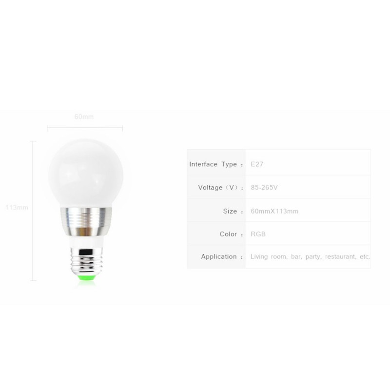 16 Colors Changing RGB LED Nigh light Holiday Decorative Atmosphere lamp E27 LED Ball Bu ...