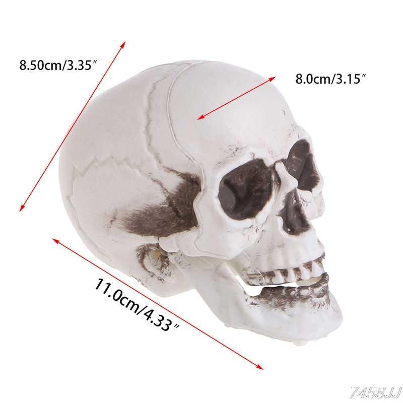 Umani di plastica Mini Cranio Decor Prop Testa di Scheletro di Plastica di Halloween Giorno di Caffè Bar Ornamento G22 nave di Goccia