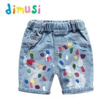 DIMUSI do Menino Jeans Rasgado pintura multicolor Calcinhas Shorts Jeans  Shorts para o Menino de Verão para Crianças Meninas . c603ed82ed44d