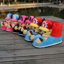 2016 winter  ONE PIECE cartoon gift cotton-padded cosplay shoes