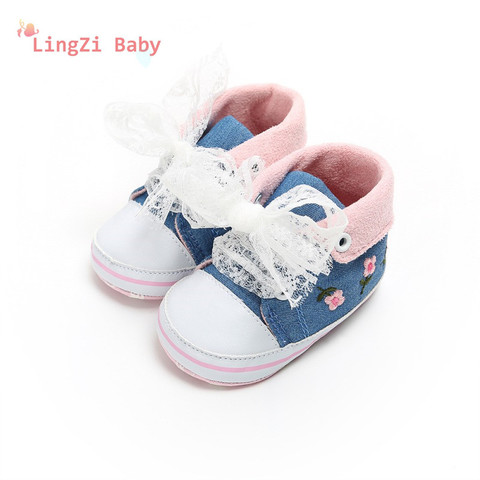 Baby Shoes Baby The First Walker Shoes Baby Girl With Delicate Embroidery Flowers Soft Bottom Toddler Shoes Pakistan