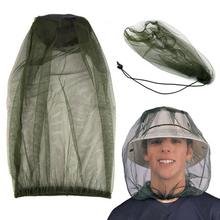 Odkryty kapelusz wędkarski czapka przeciw komarom sieć na owady kapelusz Bug Mesh siatka na głowę ochraniacz na twarz do uprawiania turystyki pieszej Camping tanie tanio Jednodrzwiowe Uniwersalny Moskitiera circular OUTDOOR Podróży anti-mosquito Head Net Hat Dorosłych Wędka chowany moskitiera