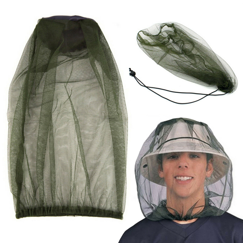 Outdoor Fishing Hat Cap Anti Mosquito Insect Net Hat Bug Mesh Head Net Face Protector For Hiking Travel Camping