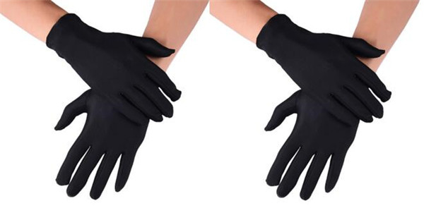 2 Pair Spandex Gloves...
