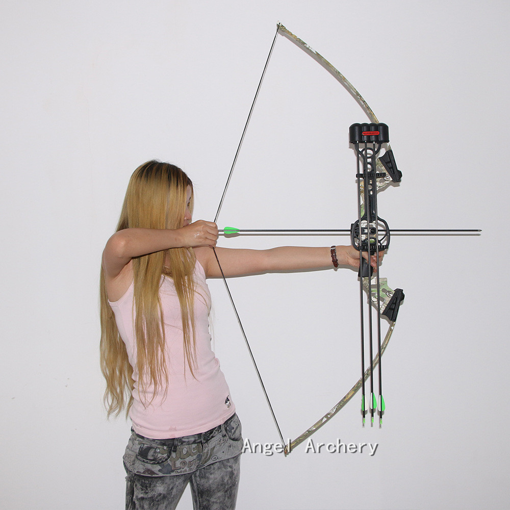 40lb Camouflage Archery Hunting Shooting Straight Bow