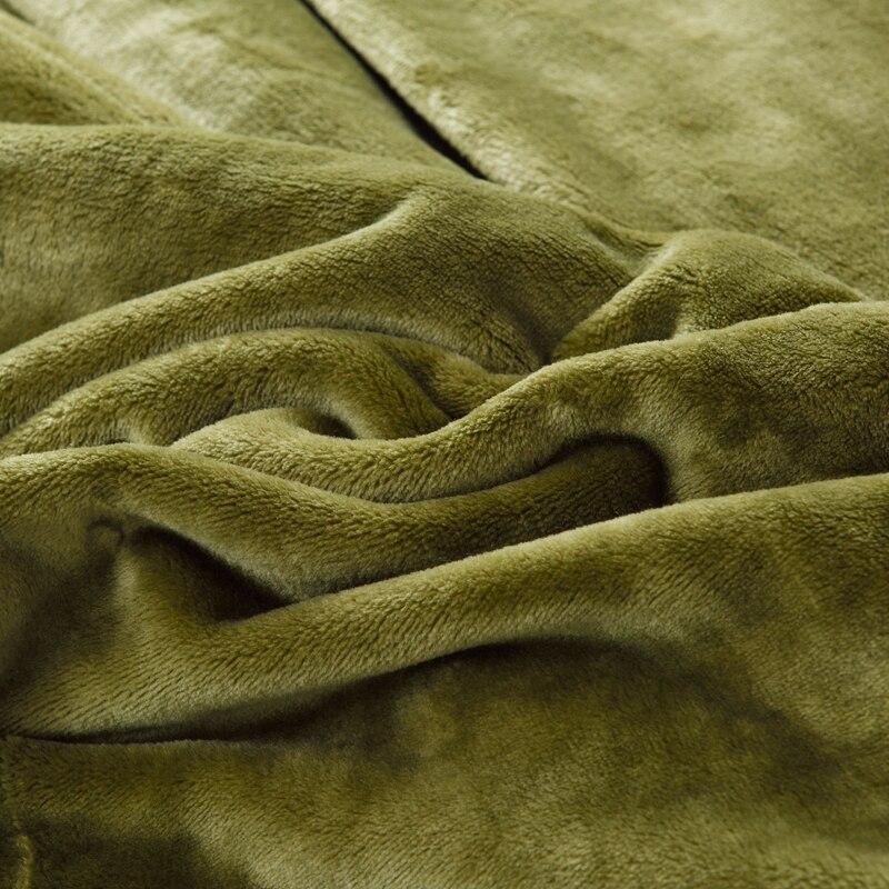 Doux chaud moelleux épaissir flanelle couverture solide armée vert bleu fausse fourrure polaire jeter 400gsm flous grosses couvertures pour les lits-in Couvertures from Maison & Animalerie    2