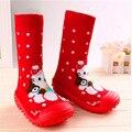 Zapatos de bebé Calcetines Del Piso Del Bebé Con Suela De Goma de Algodón Antideslizante Con Suela de Goma Niño Inferior Suave Ws933