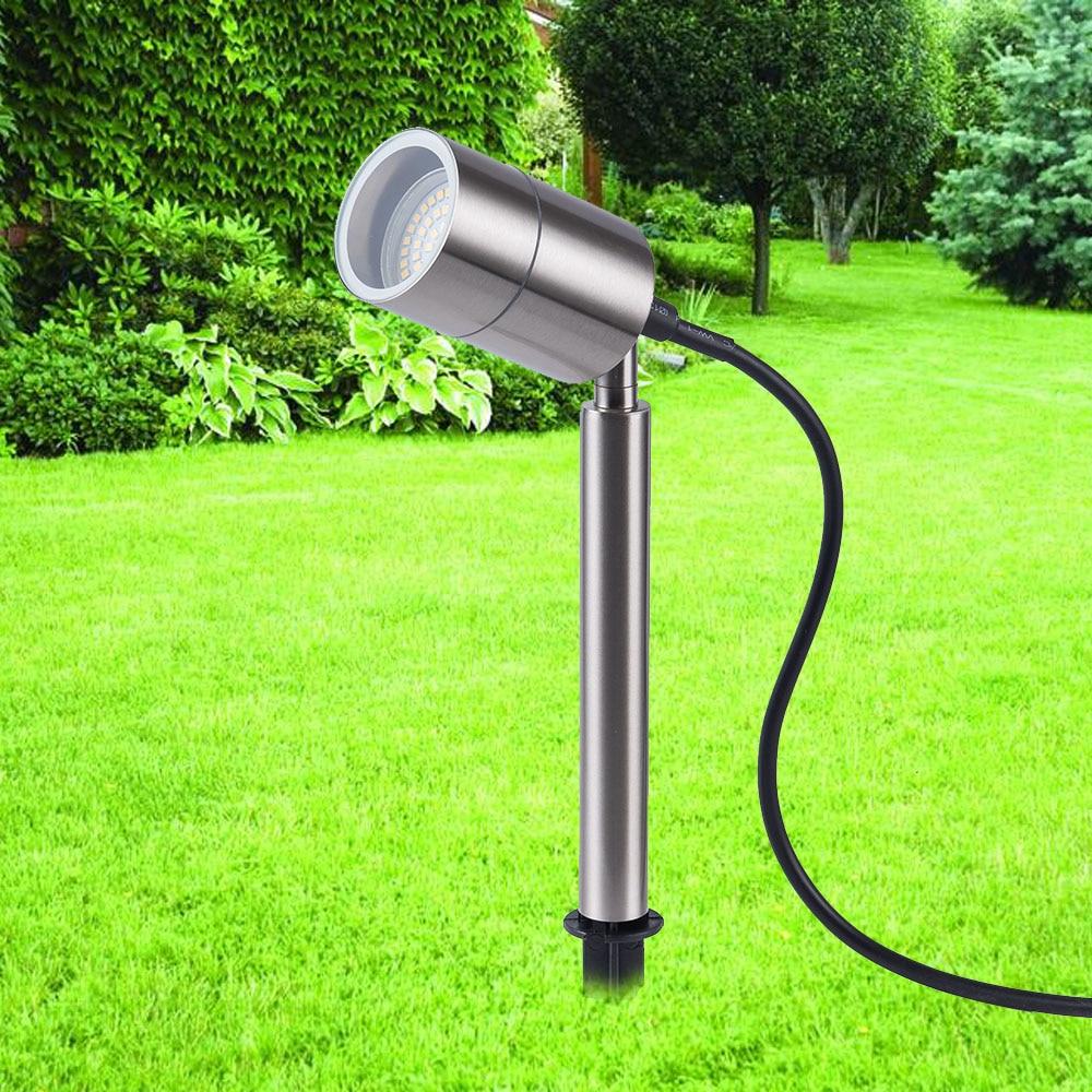 Outdoor Spike Led Spot Lawn Light Stainless Steel Led Garden Spotlight IP65 Pathway Lights Landscape Lighting AC85-260V