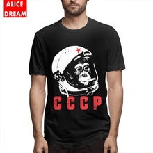 MenMan CCCP Yuri Gagarin T Shirt Harajuku Camiseta Organic Cotton Plus Size Tee Casual New Arrival