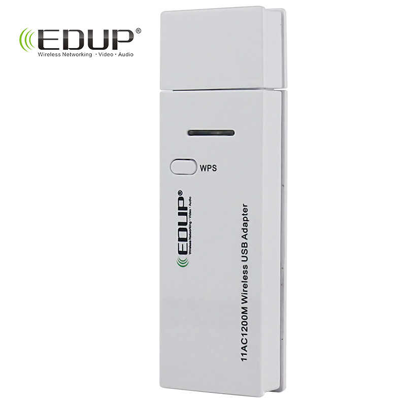 EDUP 5 ghz usb adaptador wifi de Alta Velocidad de 1200 mbps USB 3.0 Adaptador de Ethernet de Doble Banda 2.4/5G wi-fi receptor para Macbook PC equipo