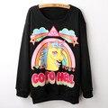 Alisister new fashion go to hell Unicorn Sweatshirt Harajuku basic Suit Hoodie moletom feminino women Tracksuits sudaderas mujer