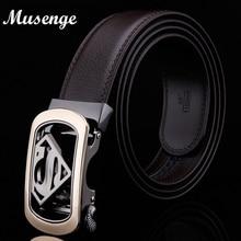 Men's Genuine Leather Designer Belt High Quality (Superman Belt)