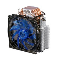 LESHP CPU Cooler Ultra Quiet 20dB(A) with 120mm Fan Five Pure Copper Heat Pipes Four wire for PC Computer Long Life