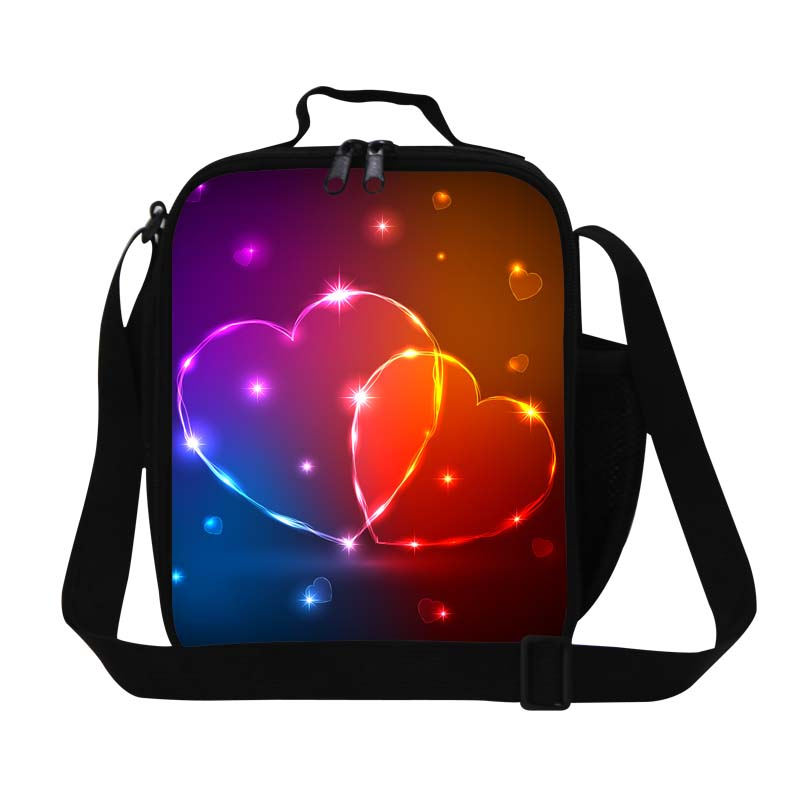 Dispalang insulated lunch cooler bag colorful heart shaped lunch bags for children kids thermal food bag stylish lunch container