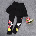 100% Cotton 2017 Baby Kids Girl Stretch Skirt Pants Cartoon Mickey Minnie Leggings Tutu 2-7Y