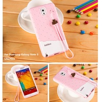 Luxury Cute 3D Cartoon Silicon TPU Cell Phone Case Cover For Samsung Galaxy Note 3 Note3