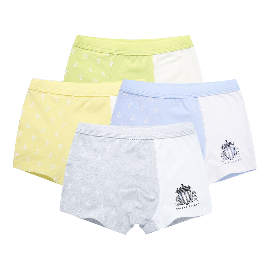 2-Pack Cotton Teenager Boxers for Kids Underwear Boys Shorts Panties Baby Boy Patchwork Childrens Underpant 2-16T