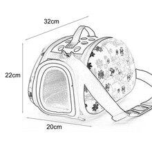 Foldable Dog Carrier Travel Shoulder Bag for Small Dogs