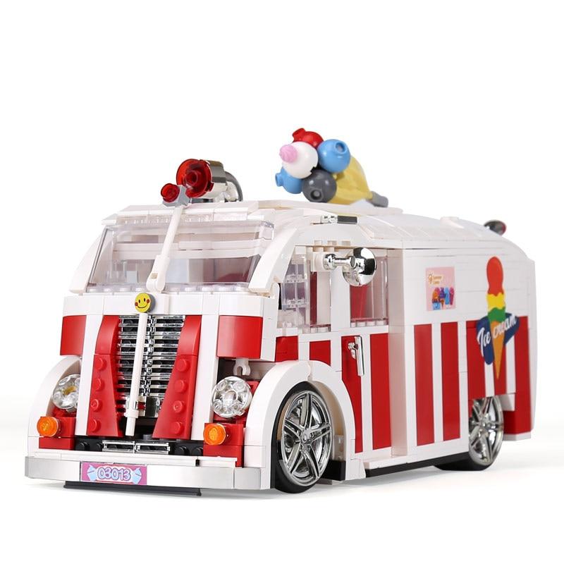 Xingbao 08004 1000Pcs Genuine Technic Series The Ice Cream Car Set